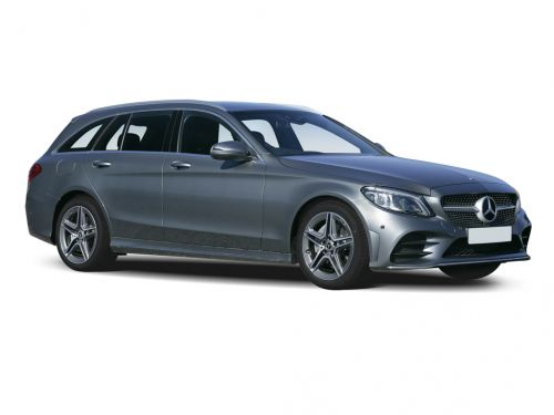 mercedes-benz c class estate c200 amg line 5dr 9g-tronic 2018 front three quarter