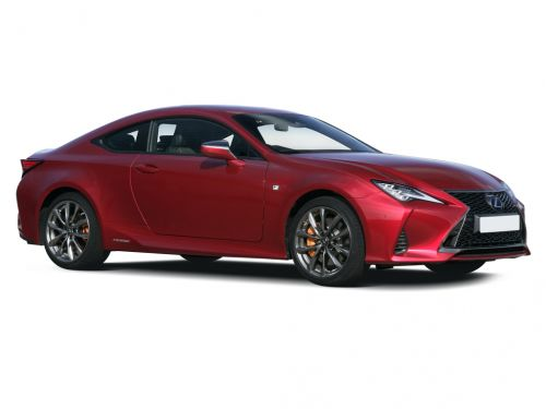 lexus rc coupe 300h 2.5 2dr cvt 2018 front three quarter