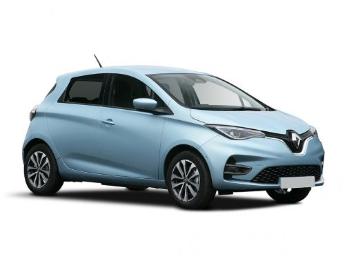 renault zoe hatchback 80kw i iconic r110 50kwh rapid charge 5dr auto 2019 front three quarter